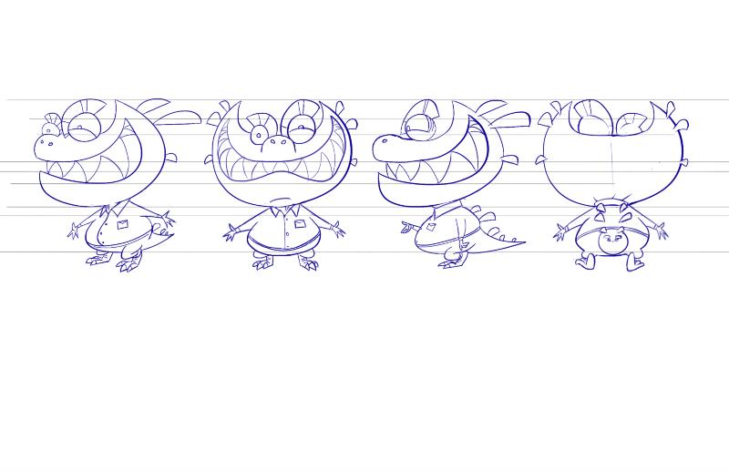 Character Design Intern : Character design work from nickelodeon part richard