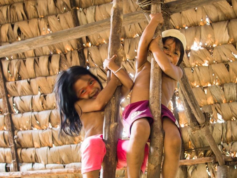 Waorani Children in Nenki Pare